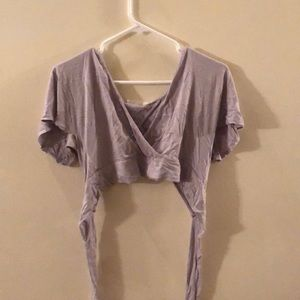 Light lavender banded crop top